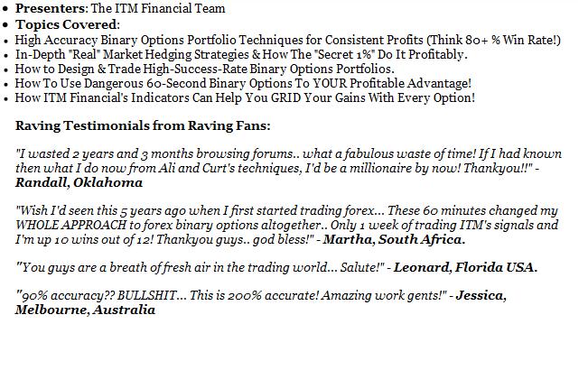 ITM Financial Webinar